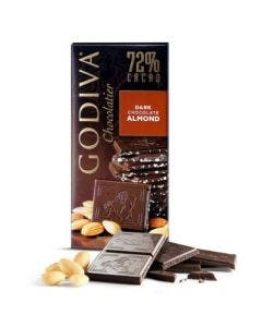 Godiva tablet dark chocolate 72% almond