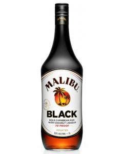 Malibu Rum Caribbean Black 1L Bottle 35%