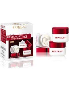 L'oreal - revitalift - trio eye cream 3x15ml