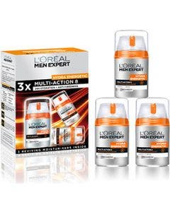 L'oreal - hydra energetic - trio multi action 8 face cream