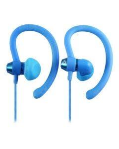 Moki earphones sports 90deg blue