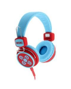 Headphone moki kid safe blue and red
