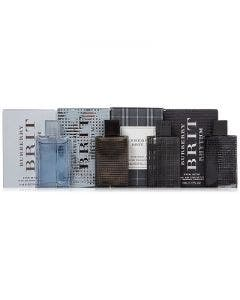 Burberry for men miniature gift box 5ml brit rhythm intense edt + 5ml brit edt + 5ml brit rhythm edt + 5ml brit splash edt man\