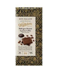 Whittakers wellington roast coffee dark chocolate 100g