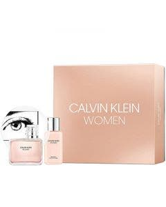 Calvin klein women pack eau de perfume 100ml + body lotion 100ml