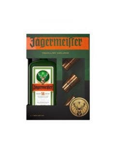 Jagermeister + 3 metal shot cups 35% 1l