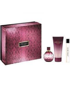 Jimmy choo fever eau de perfume 100ml +body lotion 100ml +eau de perfume 7.5ml